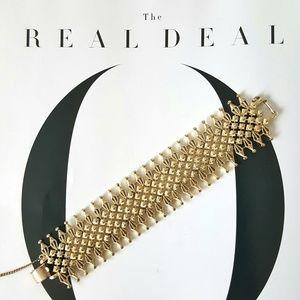 Vintage Signed CORO PEGASUS Goldtone Link Bracelet